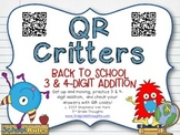 QR Critters: 3 & 4-Digit Addition {Back to School}