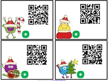 QR Critters: 3 & 4-Digit Addition {Christmas}