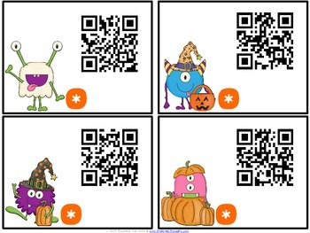 QR Critters: 3 & 4-Digit Addition {Halloween}