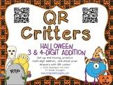 QR Critters: 3 & 4-Digit Addition {Halloween}