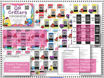 QR Critters BUNDLE: Fiction & Nonfiction Reading Questions