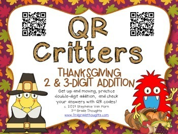 QR Critters BUNDLE {Thanksgiving}