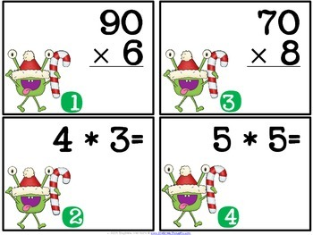 QR Critters: Multiplication {Christmas}