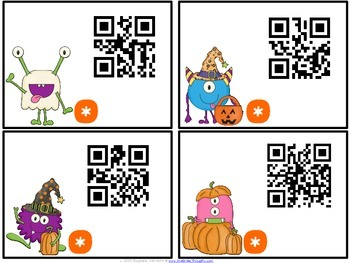 QR Critters: Multiplication {Halloween}