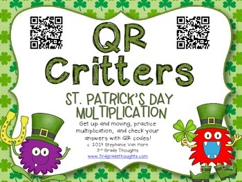 QR Critters: Multiplication {St. Patrick's Day}