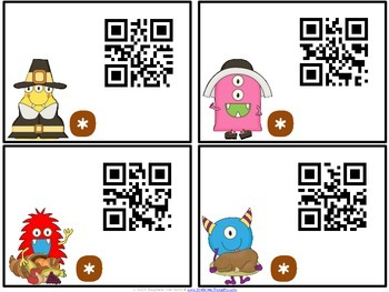 QR Critters: Multiplication {Thanksgiving}
