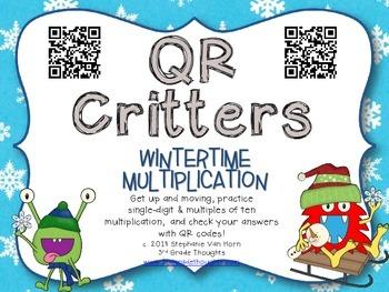 QR Critters: Multiplication {Wintertime}