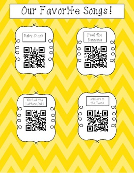 QR Favorite Classroom Songs!