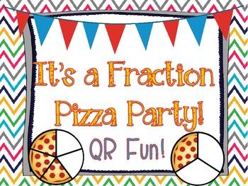 QR Fraction Pizza Party