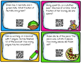 QR Fraction Word Problems