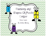 QR Fractions and Shapes Puzzles FREEBIE