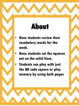 QR Hunt: 2nd Grade Reading Wonders Vocabulary Unit 2 Week 2
