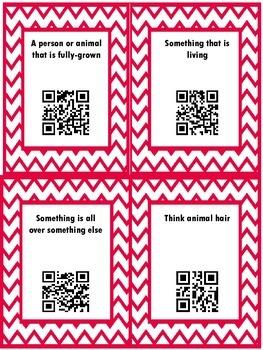 QR Hunt: 2nd Grade Reading Wonders Vocabulary Unit 2 Week 4