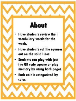QR Hunt: 2nd Grade Reading Wonders Vocabulary Unit 3 Week 2