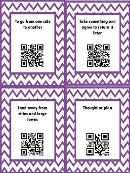 QR Hunt: 2nd Grade Reading Wonders Vocabulary Unit 3 Week 3 FREEBIE