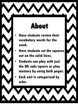 QR Hunt: 2nd Grade Reading Wonders Vocabulary Unit 4 Bundle