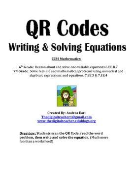 QR Hunt: Writing & Solving Equations