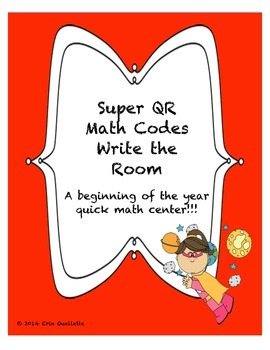 QR Math Codes for Kindergarten