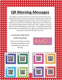 QR Morning Messages - Lang. Arts, Science, Soc. Studies, Math