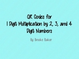 QR Multiplication Cards 1 Digit by 2, 3, and 4 Digit