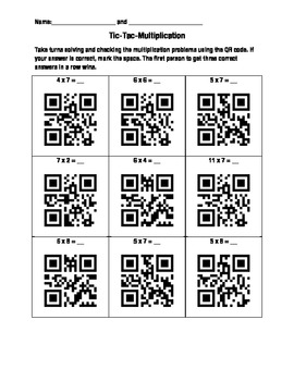 QR Multiplication Learning Game