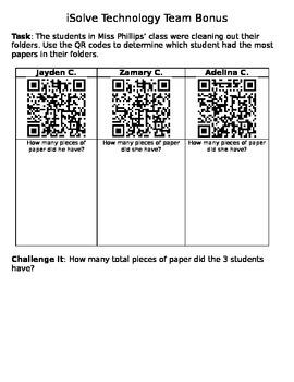 QR Multiplication Problem Solving Task