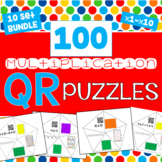 QR Multiplication Puzzles BUNDLE - All 10 Sets - 100 puzzles