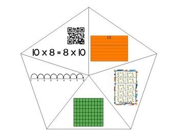 QR Multiplication Puzzles x10