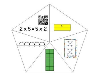 QR Multiplication Puzzles x2