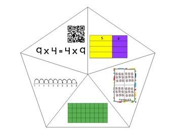 QR Multiplication Puzzles x4