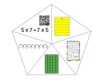 QR Multiplication Puzzles x5