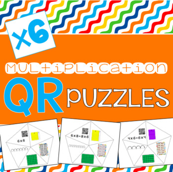 QR Multiplication Puzzles x6