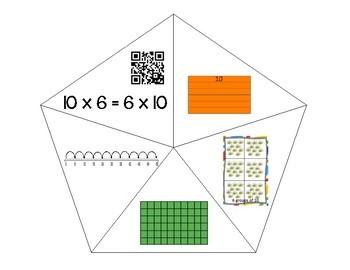 QR Multiplication Puzzles x6