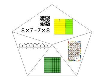 QR Multiplication Puzzles x7