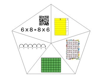 QR Multiplication Puzzles x8