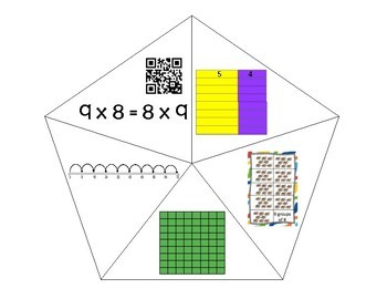 QR Multiplication Puzzles x8