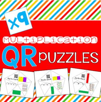 QR Multiplication Puzzles x9