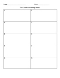 QR Multiplication Recording Sheet 2 by 2 Digit