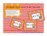 QR Multiplication by Powers of Ten Task Cards