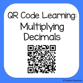 QR Code Multiplying Decimals Worksheets