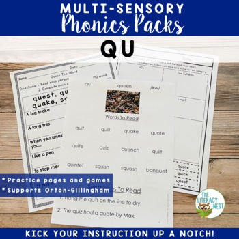 QU Multisensory Reading Orton-Gillingham Lesson Resource