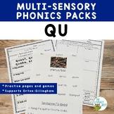 QU Multisensory Reading Orton-Gillingham Lesson Resource