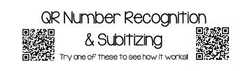 QR Number Identification & Subitizing Flash Cards
