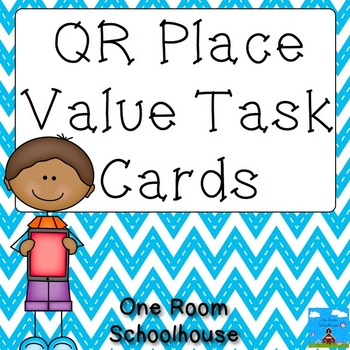 QR Place Value Task Cards Thousands and Millions