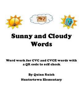 QR Reader CVC and CVCE Words with a Weather Theme