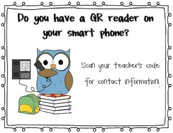 QR Reader Poster-Back to School Night