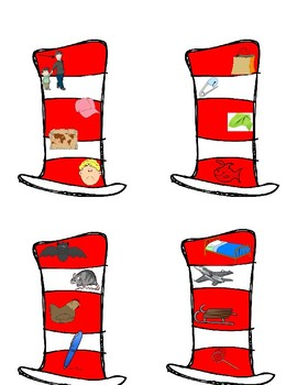Dr. Seuss Hat; Rhyming-CVC's with QR Codes