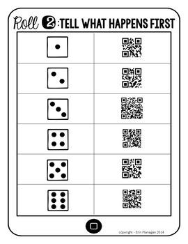 QR Roll, Scan & Write a Summary Paragraph About ANY Book