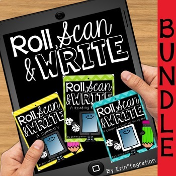 QR Roll, Scan & Write an Opinion, Compare & Contrast or Summary Paragraph