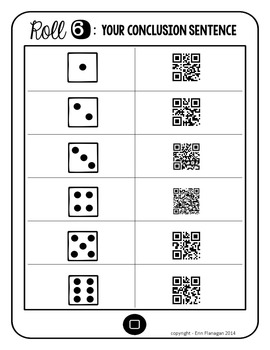 Compare and Contrast Paragraph QR Roll, Scan, and Write for Reading Response